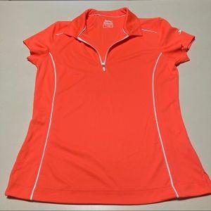 Slazenger 1/4 Zip Neon Orange Top Tennis S